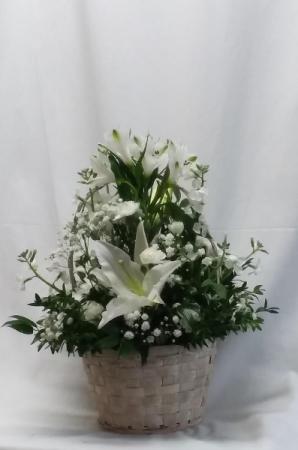 Winter White Basket Basket in Norway, ME | Green Gardens Florist & Gift Shop