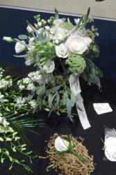 Winter White Bouquet & Boutinierre