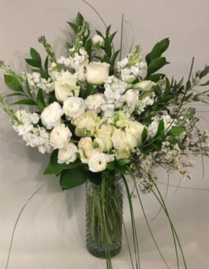 Winter white gatherings  Vase in Bethel, CT | BETHEL FLOWER MARKET OF STONY HILL