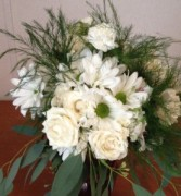 Winter White Wonder hand tied bouquet