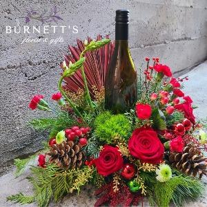 Winter Wine Time Arrangement  in Kelowna, BC | Burnett's Florist