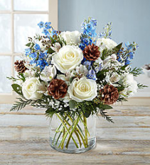 Winter Wishes Bouquet  Mixed Flowers Holiday Colors
