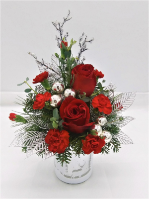 Winter Wishes Floral Arrangement in Presque Isle, ME | COOK FLORIST, INC.