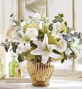 Elegant Wishes In Stunning Gold Mercury Finish Vase