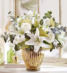 Elegant Wishes In Stunning Gold Mercury Finish Vase