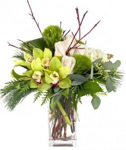 Winter Wonderful Vased Arrangement