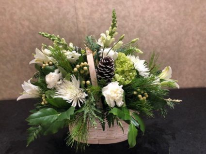 Winter Wonderland Basket arrangement
