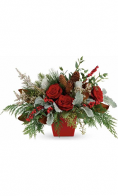 Winter wonderland bouquet 3 sided