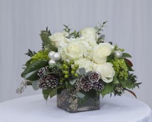 Winter Wonderland Centerpiece in Fairfield, CT | Blossoms at Dailey's Flower Shop