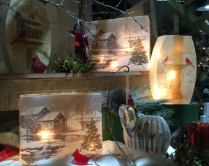 Winter wonderland lamps Lighted lamps in Pelican Rapids, MN | Brown-Eyed Susan's Floral