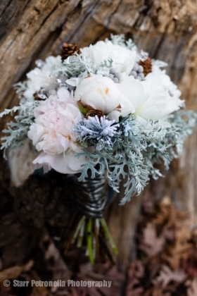 Winter Wonderland Wedding Bridal Bouquet in Chattanooga, TN | Chantilly Lace Floral Boutique LLC