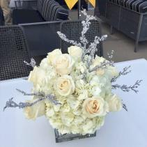 Winter Wonderland with Hydrangeas and Roses *Local Delivery Only*