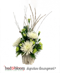 Winter Woodland Bud & Bloom Signature Arrangement