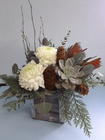 Winter Woodland Flower Arrangement