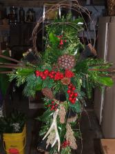 Winter Woods Cross  Funeral Flowers