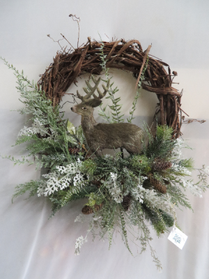 Winter Wreath 15 Silk Wreath in Farmville, VA | CARTERS FLOWER SHOP