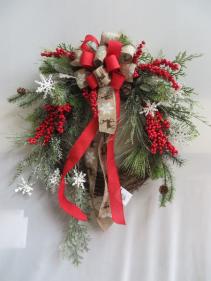 Winter Wreath 18 Silk Wreath
