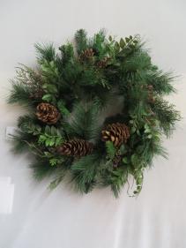 Winter Wreath 19 Silk Wreath