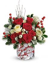 WINTERBERRY KISSES BOUQUET Christmas flowers