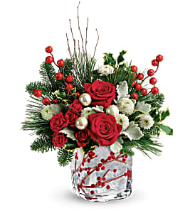 Winterberry Kisses Bouquet floral arrangement