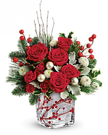 Winterberry Kisses Christmas Flowers