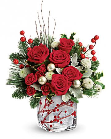 Winterberry Kisses Holiday Arrangement