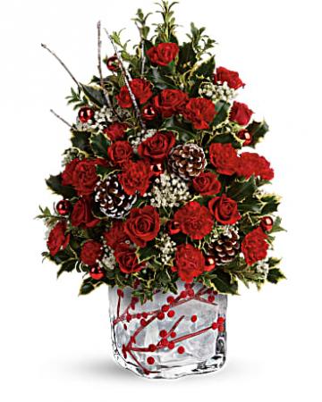 Winterberry Kisses Tree Centerpiece