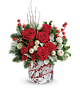 Winterberry Kisses Winter arrangement