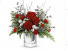 Winterland Silver mercury glass with fresh flowers