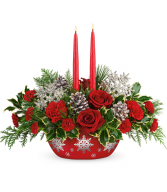 Winter's Eve Centerpiece All-Around Floral Arrangement