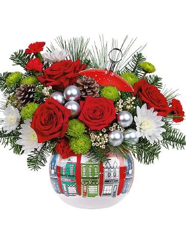 Winter's Eve Centerpiece All-Around Floral Arrangement