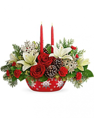 Winter's Eve Centerpiece Christmas Centerpiece