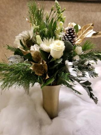 Winters Gold Gold Vase Arrangement