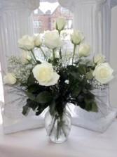 Winter's Grace Vase arrangement