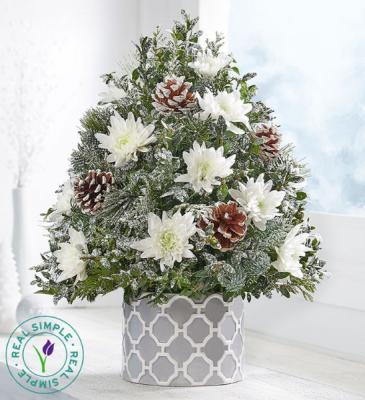Winter's Snowfall Holiday Flower Tree 176997