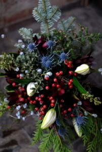 Wintertime Nature Mixed Handtied Bouquet