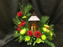 Wintery Lantern LED Lantern Centerpiece
