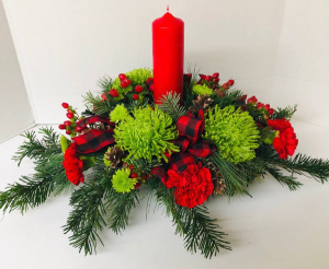 Wintery Woods Centerpiece Arrangement in Michigan City, IN | WRIGHT'S FLOWERS AND GIFTS INC.