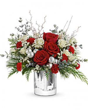 Wintry Wishes  centerpiece  in Kernersville, NC | YOUNG'S FLORIST