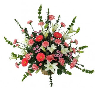 Bright Mixed Flowers arranged.