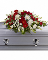 Wisdom Casket Spray Casket Flowers