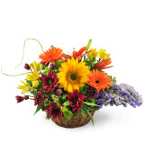 Wishes Basket  Fall arrangement