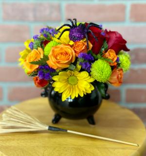Witches Cauldron Birthday/ Halloween  in Whittier, CA | Rosemantico Flowers