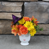 Witchy Woman Halloween Flowers