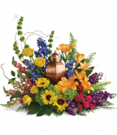 With All Our Hearts Cremation Tribute T282-4A  Urn Arrangement