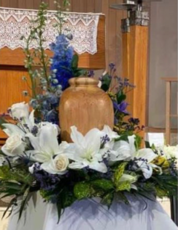 With all our hearts  Funeral urn memorial