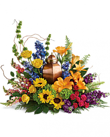 With All Our Hearts... Urn Arrangement