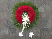 with all our love  wreath