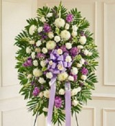 With Deepest Sympathy  Standing Arrangement. Can be designed in your colors.