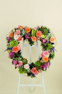 With Loving Hearts Heart Wreath